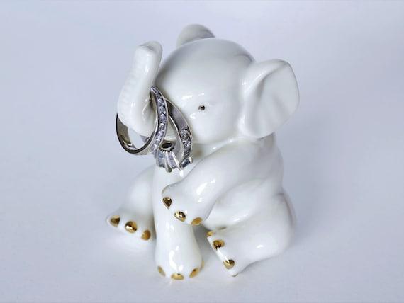 Vintage Lenox Porcelain Elephant Figurine Collectible Ring