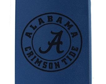 Laser engraved College Pride Roll Tide University of Alabama Crimson Tide PU leather iPhone 5/5s/SE case