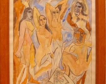 Les Demoisell d'Avignon after Picasso