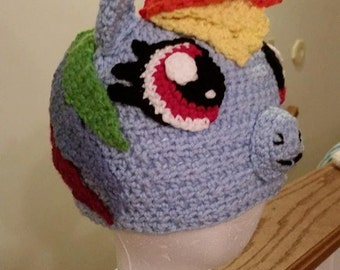 Rainbow Dash Crochet Hat