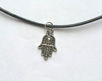 Hamsa hand necklace/choker