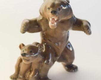 Bing & Grondahl Bear and Cub figurine #1816