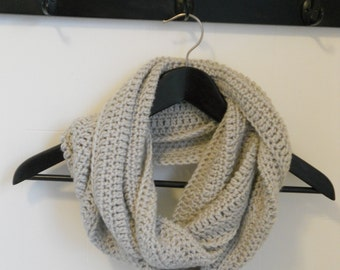 Crocheted Double Wrap Infinity Scarf