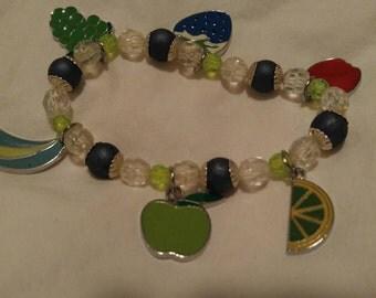 fruits charm bracelet