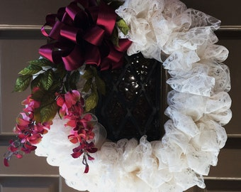 Vintage Inspired Lace Wreath