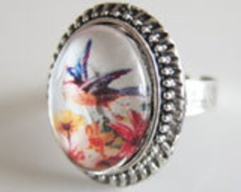 Oval Photo Vintage Ring