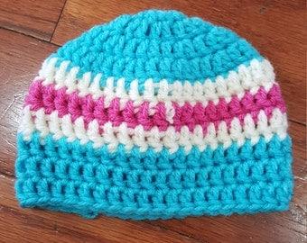 Multi-colored striped hat