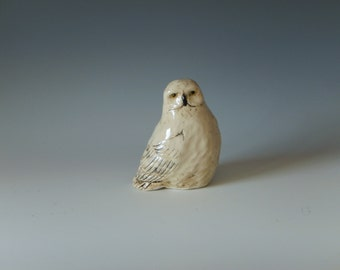 Stoneware Snowy Owl