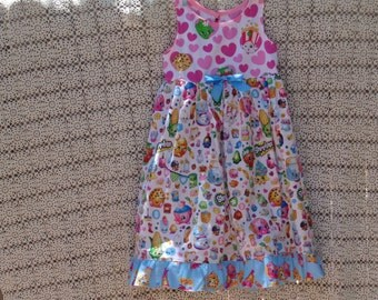 Shopkins  Ruffled Peasant Dress-Size 6