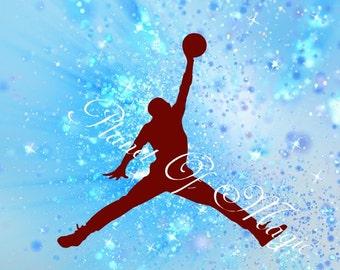 Jordan SVG File, EPS File, Jumpman SVG, Basketball Party Svg, Svg Cuttable Design, Cricut, Silhouette