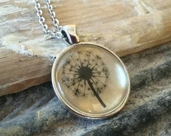 "Handcrafted ""Dandelion' Necklace"
