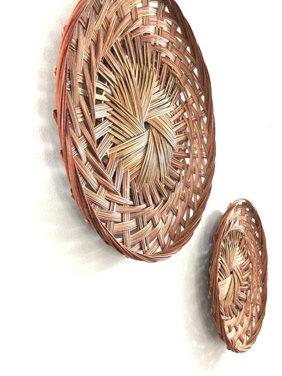 wall hanging baskets vintage gathering baskets wall. Black Bedroom Furniture Sets. Home Design Ideas