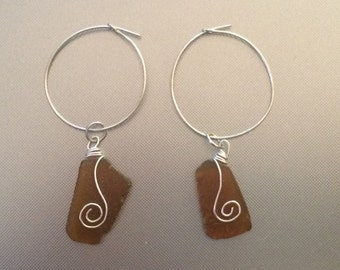 Sea Glass Earings