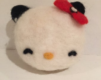 Hello Kitty Panda ~ Felted ~ Free Shipping!