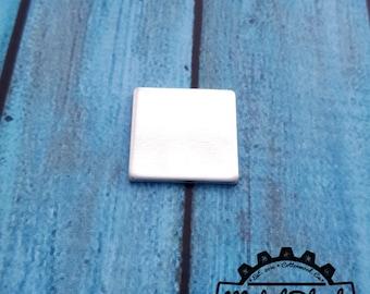 "Square .5 x .5"", Aluminum Blanks, Metal Blanks, Square Metal Blanks, Handstamping Blanks, Stamping Supplies"