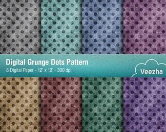 Digital Grunge Dots Pattern