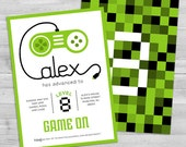 Video Game Invitation | Game Truck Party Invitations | Video Game Party Invitations | Boy Birthday Invitation | Game Truck Invitation