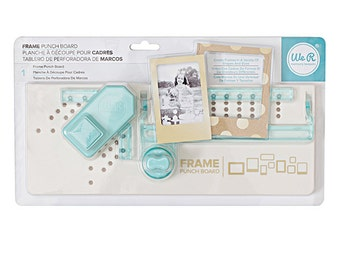 Frame Punch Board - We R Memory Keepers Frame Punch Board - Punch Board - Paper Frame Punch Board - Scrapbook Frame Punch Board