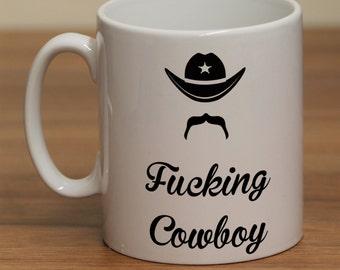 f*cking cowboy funny (adult theme) Mug