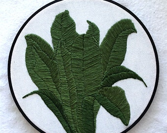 "21.5cm/8.5"" ""Birdsnest"" Plant Embroidery Hoop Art Wallhanging"