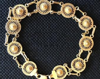 18K Filigree Bracelet