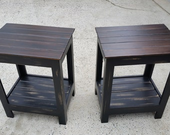 Rustic Nightstands, Tables, and More