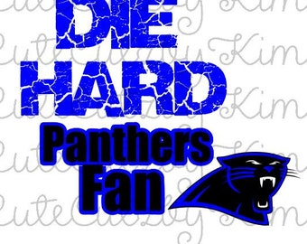Die Hard Panthers Fan SVG