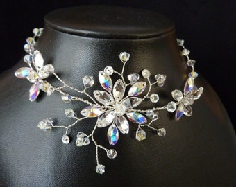 "Bridal Necklace ""Magic Flower"""