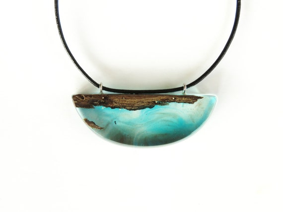 wood resin necklace epoxy resin reclaimed wood by woodallgood
