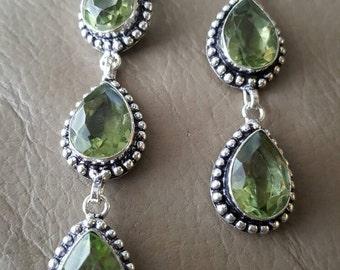 Green Amethyst Earrings!