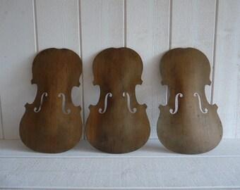 Vintage French violin wooden soundboard for decor