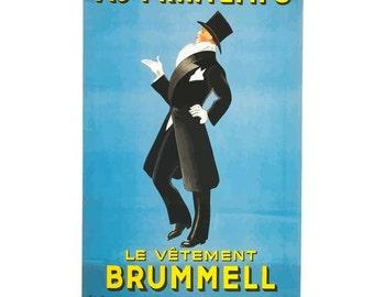 Au Printemps le Vêtement Brummel Canvas French Poster Giclee Art Print Gallery Wrapped