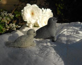 seal mum and baby seal