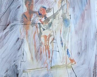 Acrobat, 130 x 100 cm