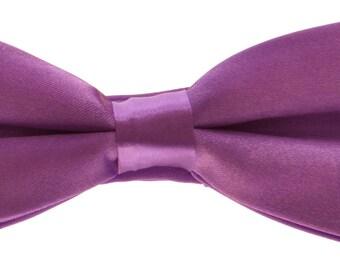 Purple Babies Toddlers Pre-Tied Bow Tie