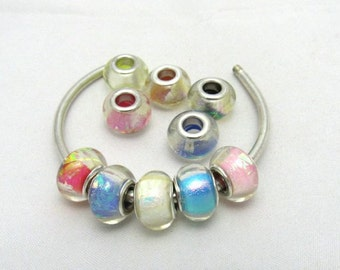 10 Assorted Resin Euro Beads (BR1o)