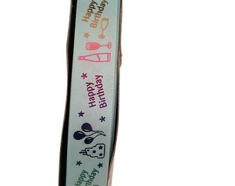 Satin Ribbon Birthday Print with glossy finish