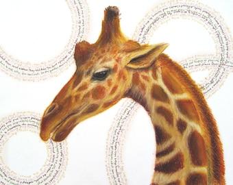 "Giraffe ""Creation Myth"" Giclee Print"