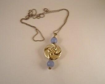 necklace, pendant necklace, long necklace, semiprecious stones necklace, chain