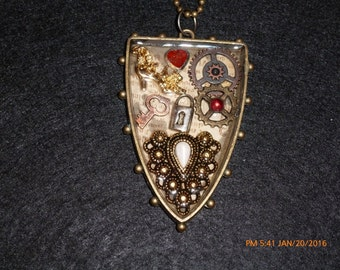Steampunk Shield Necklace