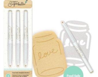 Sweet Sugarbelle Tan Edible Food Pens - 3 pack