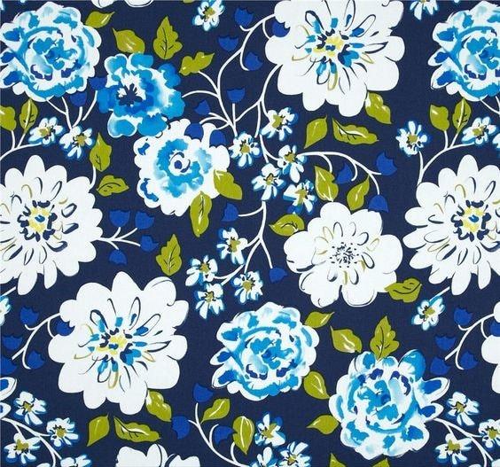 Home decor fabric dena designs tea garden ying ming navy for Dena designs tea garden fabric