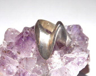 Size 5 1/2 Vintage Silver Twist Ring