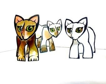 Cat Set - Printable Toy