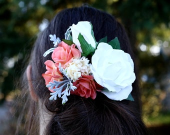 Bridal Rose Clip