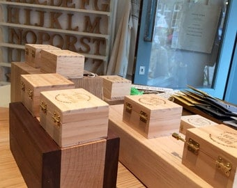 Wooden shop display blocks