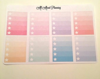 Ombre Star Full Boxes Pastel or Brights