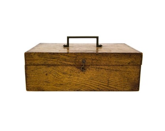 Vintage French Wood Sacrement Box