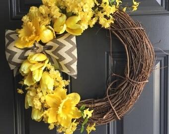 Sunshine Spring Wreath