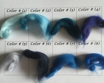 Super Bulky and Chunky Big Merino Wool, Roving Yarn, Extreme Knits, Chunky Knits, SPECIAL ORDER COLORS 1-2 week processing time, Blues